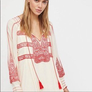 Free People Wind Willow Boho Embroidered Dress